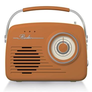 Akai AM/FM Vintage Portable Retro Radio - Burnt Orange | A60014VBO