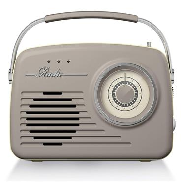 Akai AM/FM Vintage Portable Retro Radio - Taupe | A60014VT