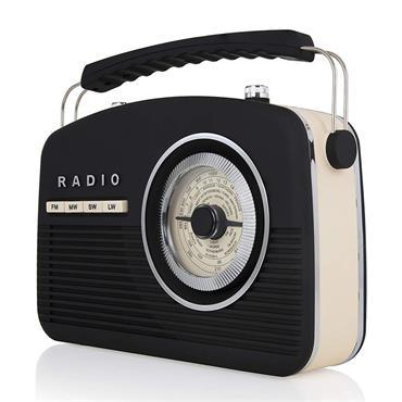 Akai Vintage Portable Retro Radio 4 Band - Black | A60010V
