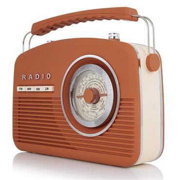 Akai Vintage Portable Retro Radio 4 Band - Burnt Orange | A60010VBO