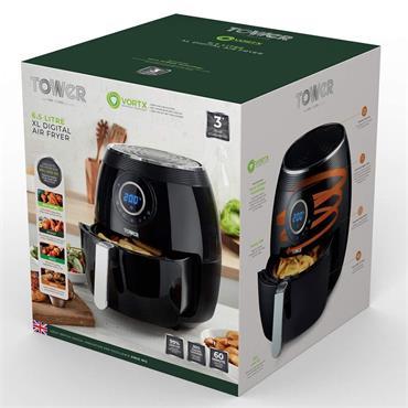 Tower Vortex Digital Air Fryer 6.5 Litre - Black | T17057BLK