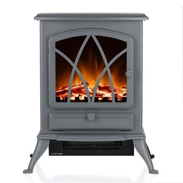 Warmlite 2kw Stirling Electric Fire Stove - Grey   WL46018G