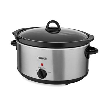 Tower 5.5 Litre Slow Cooker - Stainless Steel | 71527