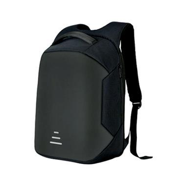 AQUARIUS Advance Anti Theft Back Pack LAPTOP BAG - BLACK