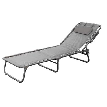 Deluxe Padded Sun Lounger - Grey | 241364