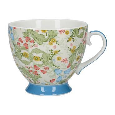 KitchenCraft China Dawn Floral 400ml Footed Mug   KCMFTD155