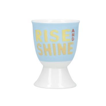 KitchenCraft Porcelain 'Rise & Shine' Egg Cup | KCEGGRISE