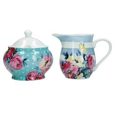 Mikasa Clovelly Porcelain Sugar Bowl and Creamer Set | MKCLOSUGCRE