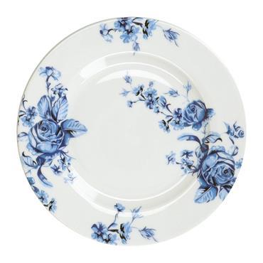 Mikasa Hampton Porcelain 19cm Blue Flower Side Plate | MKHAMSPBFLR
