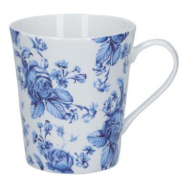 Mikasa Hampton Porcelain 330ml Mini Blue Flower Conical Mug | MKHAMMUGMFLR