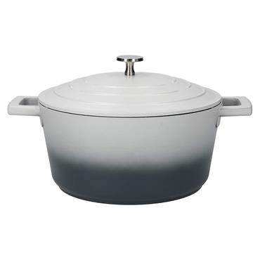 Masterclass Cast Aluminium 4 Litre Casserole Dish - Ombre Grey | MCMCRD24GRY