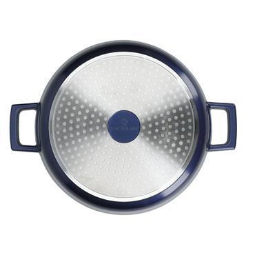 MasterClass Cast Aluminium 4 Litre Casserole Dish - Metallic Blue | MCMCRD24BLU