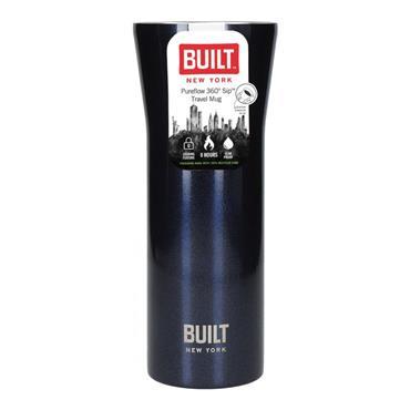BUILT Pureflow Insulated Travel Mug 470ml - Midnight Blue | BLTPFTMBLU