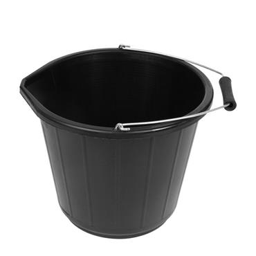 Plastic Bucket 3 Gallon - Black