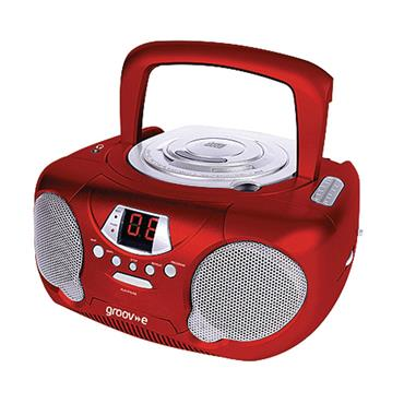 GROOVE CD/RADIO BOOMBOX RED | GVPS733R