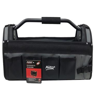 """Protool 16"""" Polyester Tool Tote - Grey/Black 