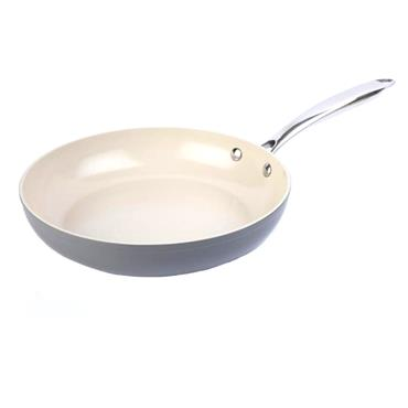 28CM HERITAGE GREY CERAMIC FRYING PAN