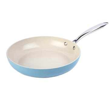28CM HERITAGE BLUE CERAMIC FRYING PAN