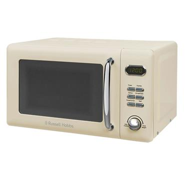 RUSSELL HOBBS 17 Litre 800w RETRO MICROWAVE CREAM | RHRETMD806C