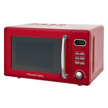 RUSSELL HOBBS 17 Litre 800w RETRO MICROWAVe RED | RHRETMD806R