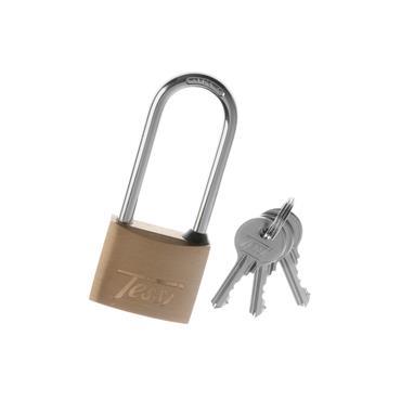 Tessi 30mm Long Shackle Solid Brass Padlock | TE30L