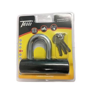Tessi 110mm Hardened Steel D-Shackle Padlock   TE110S