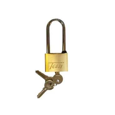 Tessi 50mm Long Shackle Solid Brass Padlock | TE50L