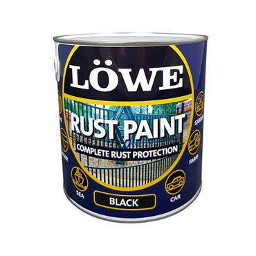 Lowe 500ml Rust and Metal Paint - Black | LRBL0075