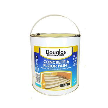 Douglas 2.5 Litre Universal Floor Paint - Black Gloss   DPICO250