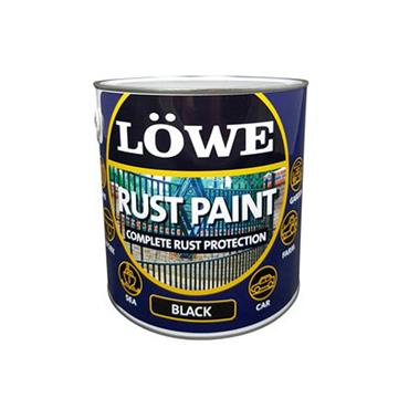 Lowe 2.5 Litre Rust and Metal Paint - Black | LRBL0300