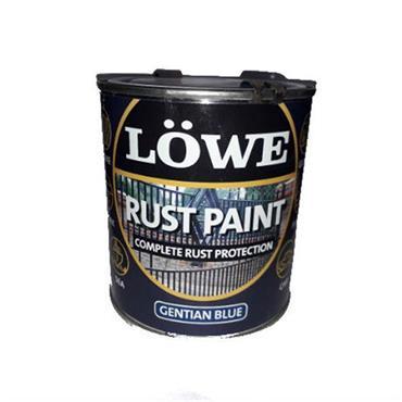 Lowe 1 Litre Rust and Metal Paint - Gentian Blue | LRB0150
