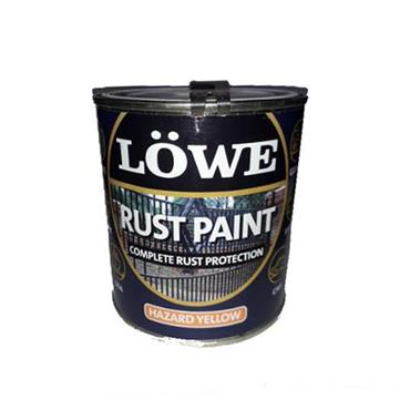 Lowe 2.5 Litre Rust and Metal Paint - Hazard Yellow | LRT0300