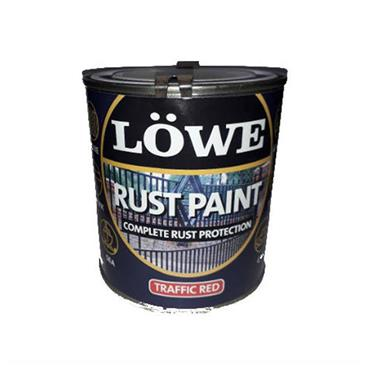Lowe 1 Litre Rust and Metal Paint - Traffic Red | LRR0150