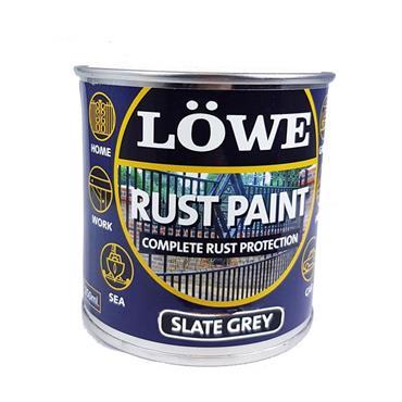 Lowe 1 Litre Rust and Metal Paint - Slate Grey | LRS0150