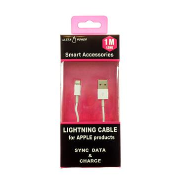 LIGHTNING CABLE FOR APPLE SYNC DATA & CHARGE 1 METER | AJL95211