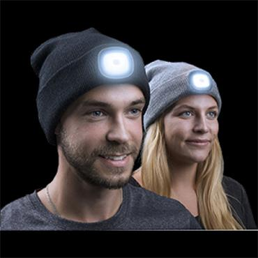 Ultralight LED Battery Beanie Hat - Black | TE202