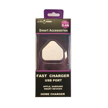Ultra-Power 2.4A Fast Charging Wall Plug USB Charger | AJL376