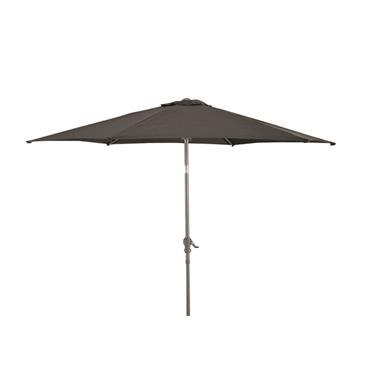 Aluminium Garden Parasol Umbrella 2.7m Crank & Tilt - Charcoal