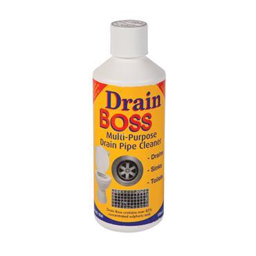 DRAIN BOSS DRAIN CLEANER 500ML  (85% Sulphuric Acid)