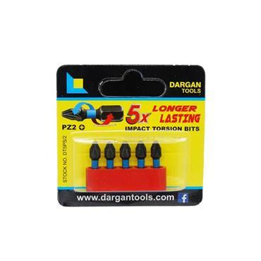 Dargan 5 Piece Pozi 2 PZ2 Torsion Bit Set | DT5PS/2