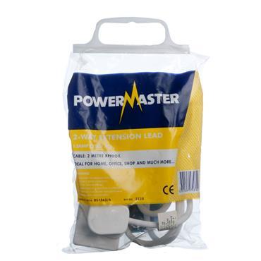 Powermaster 2 Gang 2 Metre 13 Amp Extension Lead   1392-20