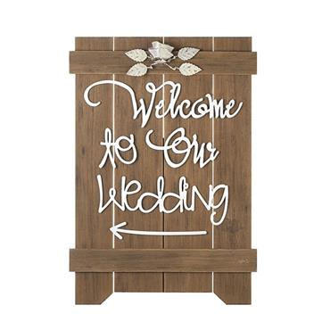 WELCOME TO OUR WEDDING FLOOR SIGN | Z720