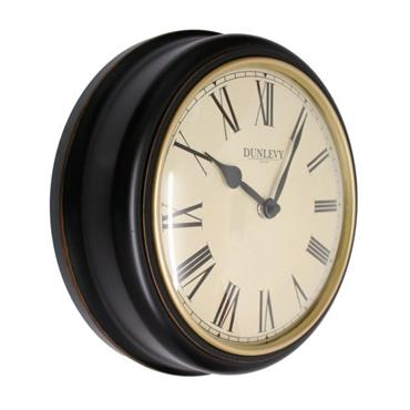 "10"" WALL CLOCK ANTIQUE BLACK"
