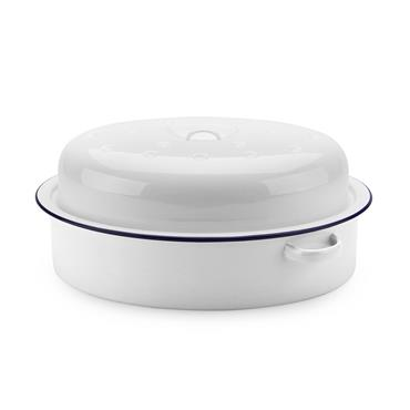 FALCON OVAL ENAMEL ROASTER 30CM - BLUE AND WHITE | EN3356