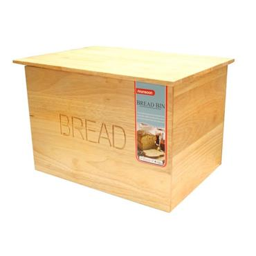 WOOD LIFT LID BREAD BIN
