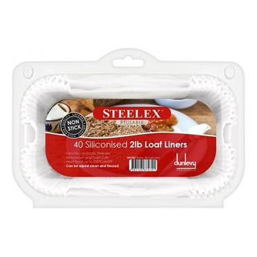 Steelex 2lb Loaf Liners Pack 40 | HK5202
