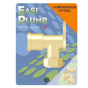 """Easi Plumb 1/2"""" x 3/4"""" F.I. Wall Plate Elbow 317W   EP317W1234"""