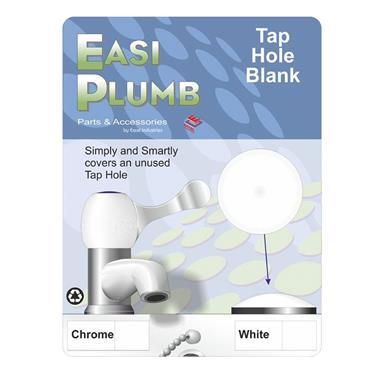 Easi Plumb Sink Tap Hole Blank - White | EPWTHS