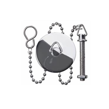 "Easi Plumb 1 1/2"" Chrome Plated Basin Plug Stopper and Chain Sets 