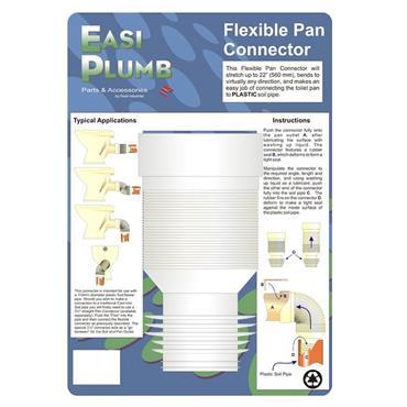 "Easi Plumb 4"" Straight Flexible Pan Connector   EPFPC"